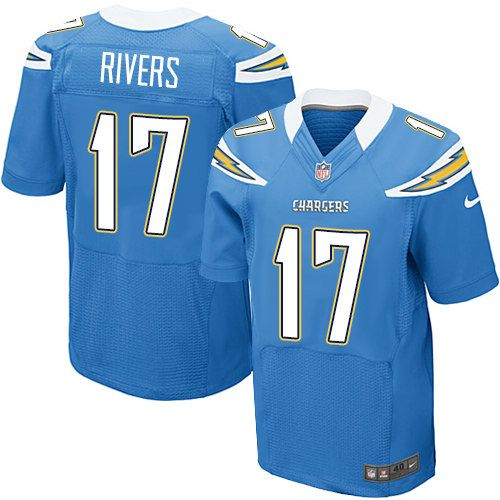 58a76150 Nike Elite Philip Rivers Electric Blue Men's Jersey - Los Angeles ...