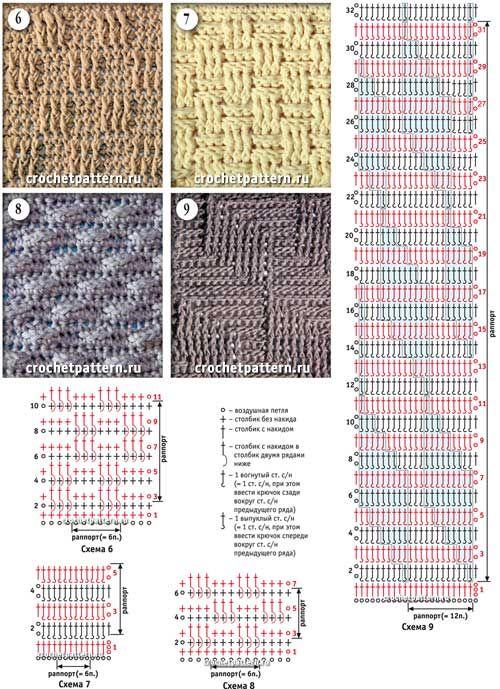 Страница №08 с узорами для вязания крючком. | puntos | Pinterest ...
