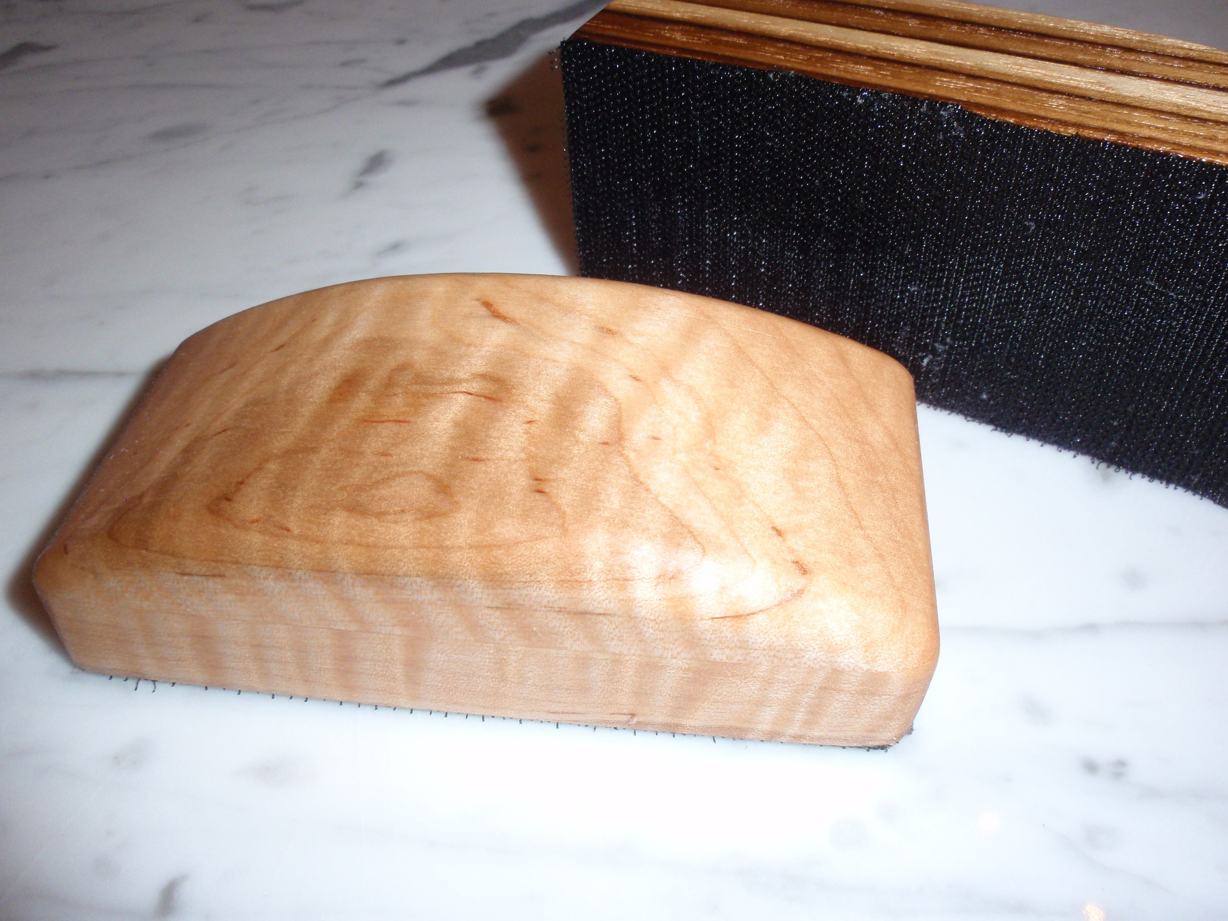 Handcrafted Curly Maple Sanding Block Designed For Hook Loop Sandpaper Sanding Blocks Sanding Block Sanding