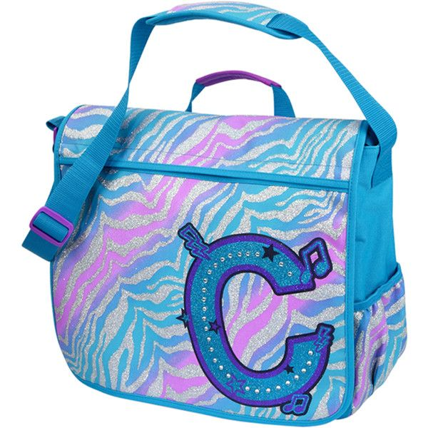 Justice School Supplies | Cool Zebra Messenger Bag backpacks school supplies - Polyvore