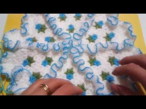 Fırfırlı Gül Desenli Tomurcuklu Lif Yapılışı Videolu Anlatımlı