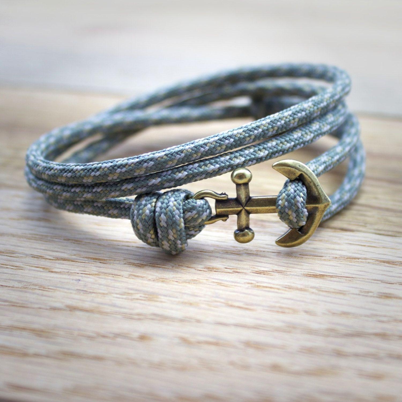Mens Anchor Bracelet  Paracord Bracelet  Rope Bracelet  Nautical Bracelet   Anchor Bracelet
