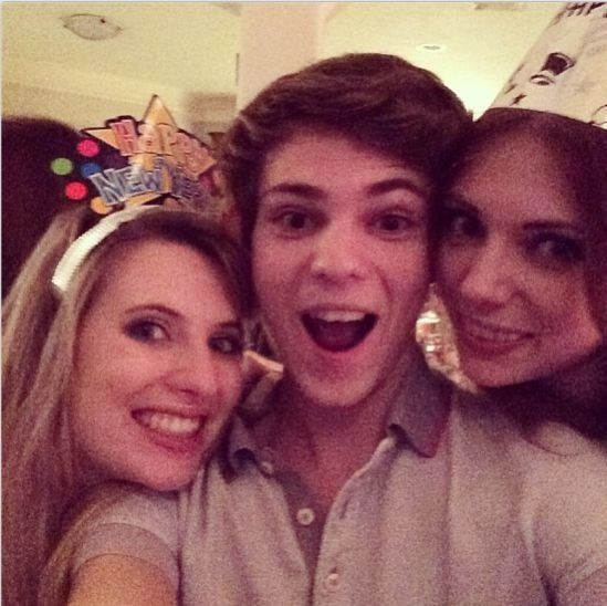 Robbie Kay with his sisters on New Years