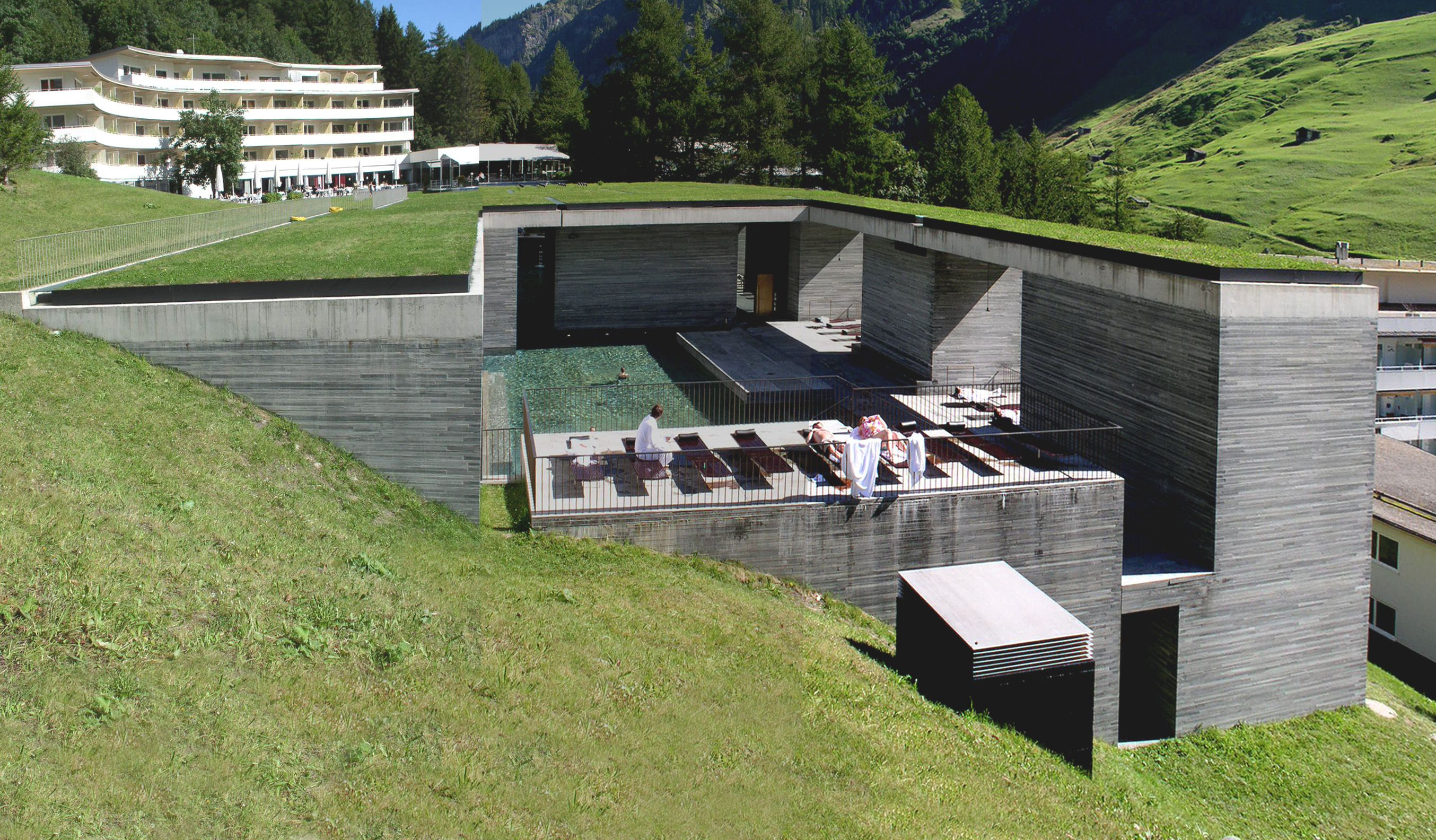 Therme Vals is a hotel/spa in Vals, Switzerland. The