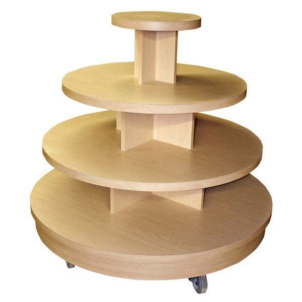 Four Tier Round Display Table Maple Store Table Retail Display Window Display Design Display