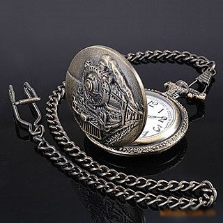 vintage pocket watch case for men pocket watch with train