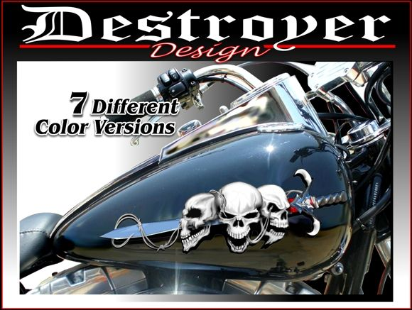Motorcycle Tank Skull Decals Motorcycle Stickers Motorcycle - Vinyl stickers for motorcyclesmotorcycle graphics motorcycle stickers motorcycle decals