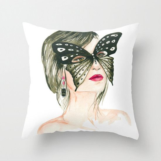 Butterfly, Fashion Pillow Cover