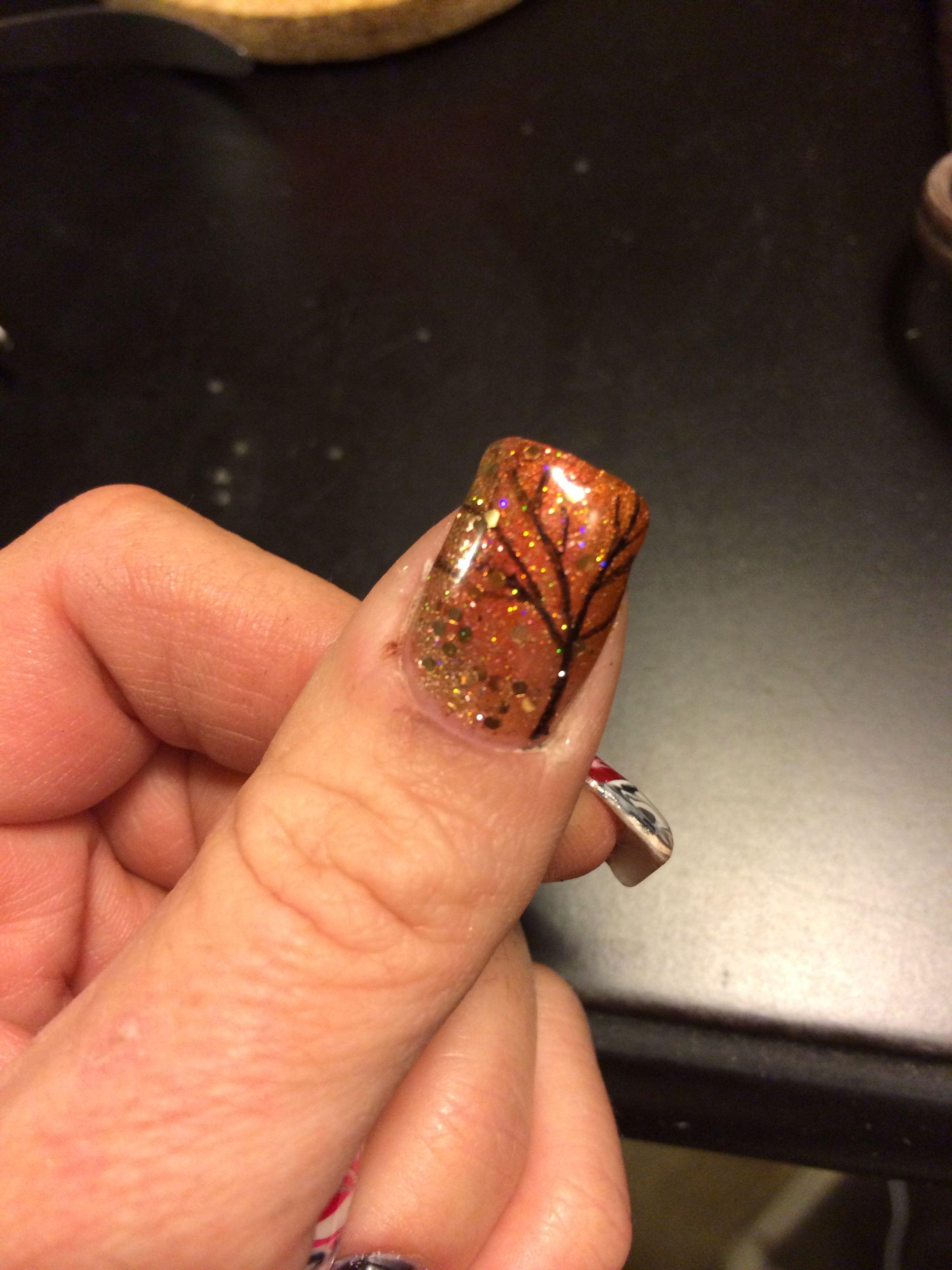 Fall acrylic nails #autum #falllove | My Work!! | Fall ...