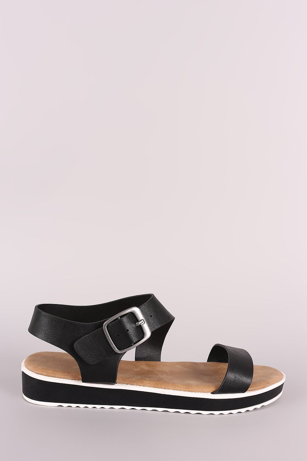 41b90faab03 Bamboo Vegan Leather Ankle Strap Low Flatform Sandal These low flatform  sandal features a vegan leather