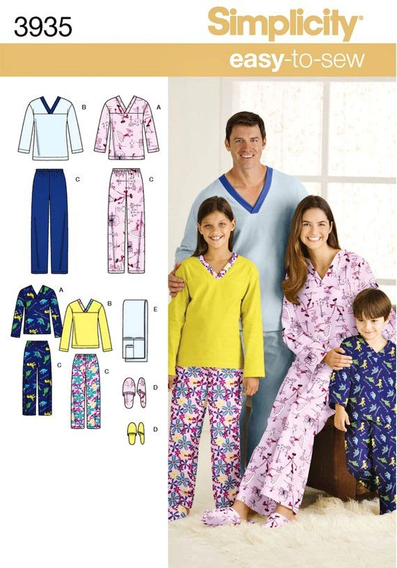 9a68d0f6d5 Easy Family Pajamas Pattern