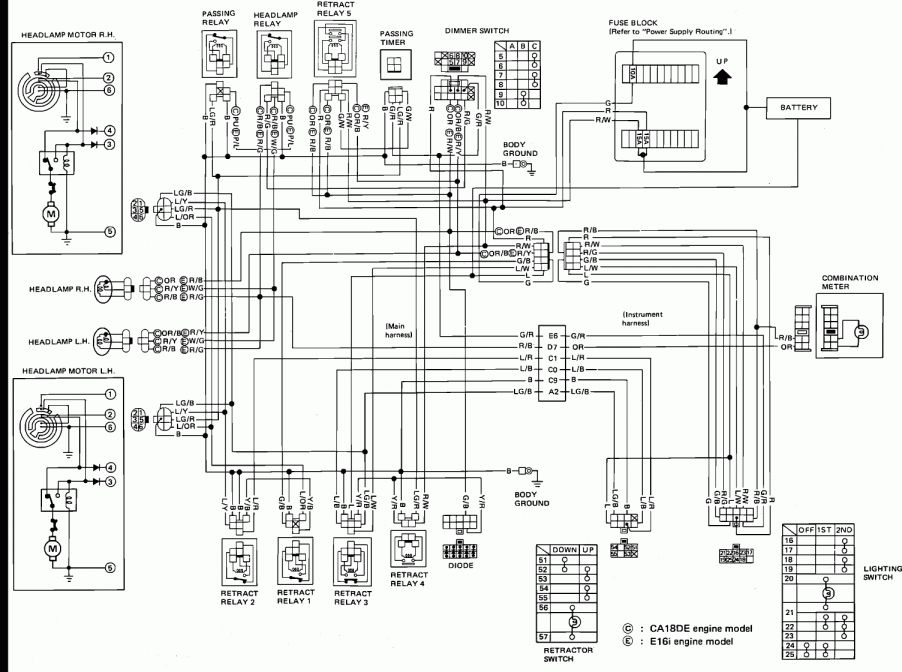 2001 Nissan Xterra Car Stereo Wiring Diagram And Nissan Radio Wiring Wiring Diagram Nissan Pulsar Nissan Pulsar