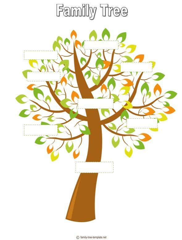 Family Tree Designs | Printable Family Tree #7 | Genealogy | Pinterest