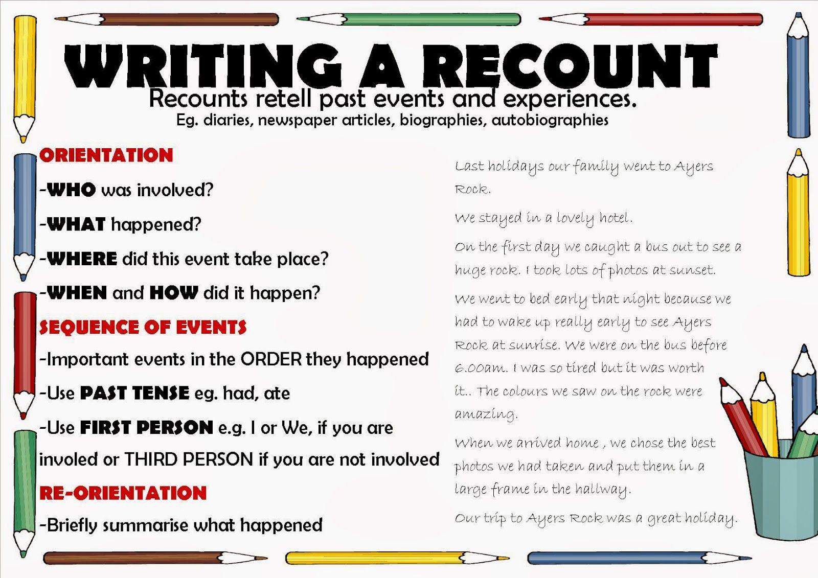 Recount Success Criteria