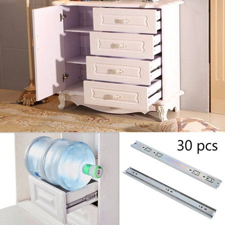 Cold Rolled Steel Drawer Track 15 Pairs Telescopic Cabinet Slide Rails 18 Inch Ball Bearing Drawer Slides Cabinet Slides Drawer Slides