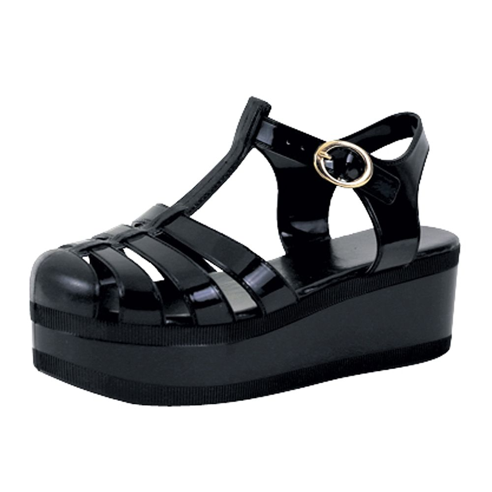 Womens Women's Platform Sandals Jelly Adjustable Strap Casual Comfort Shoes On Sale Store Size 37