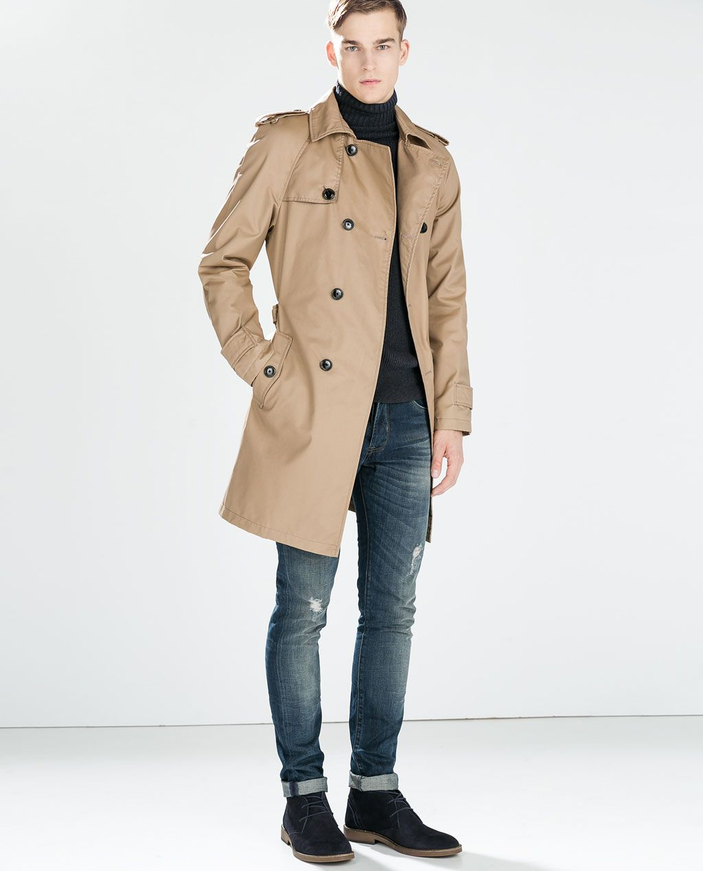 Image 2 Of Oversized Trench Coat From Zara Trenchcoat Manner Winter Outfits Manner Manner Outfit