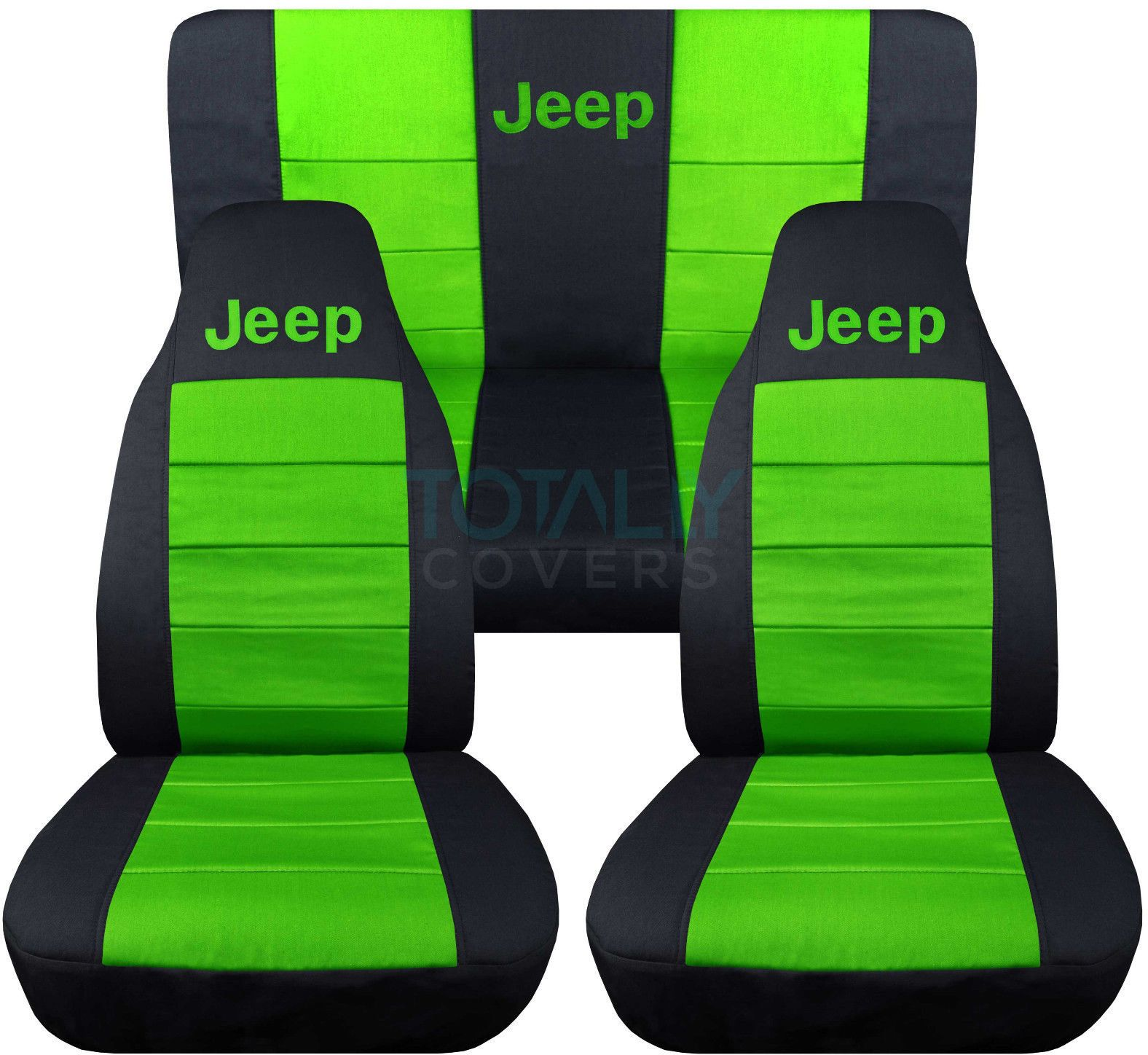 Jeep Wrangler Black And Lime Green Jeep Logo Seat Covers Jeep