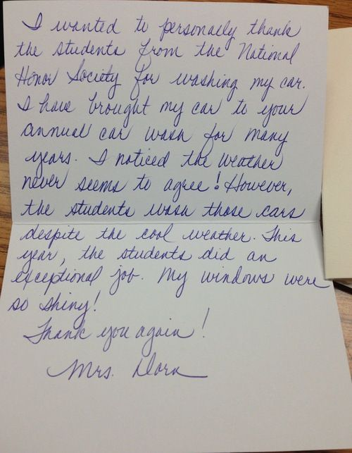 Teacher Car Wash Thank You Letter The Funniest Tumblr Ever Edna