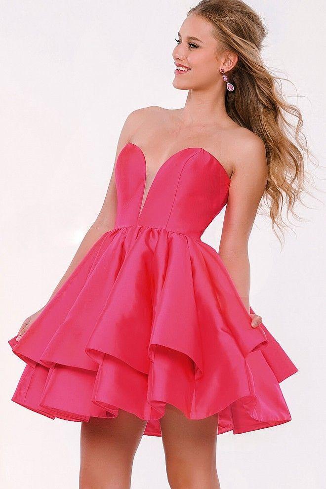 Cocktailkleid 2018 Leopoldine in Pink | Abendkleider Pink - günstig ...