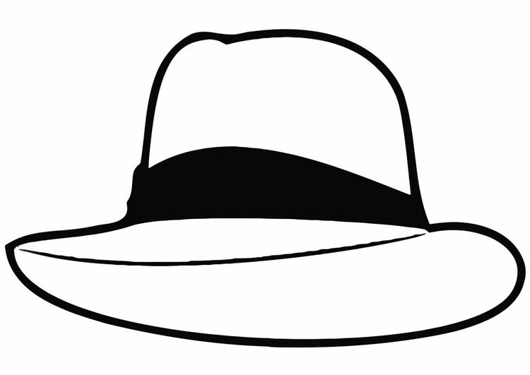 kleurplaat hoed kleurplaten hoeden