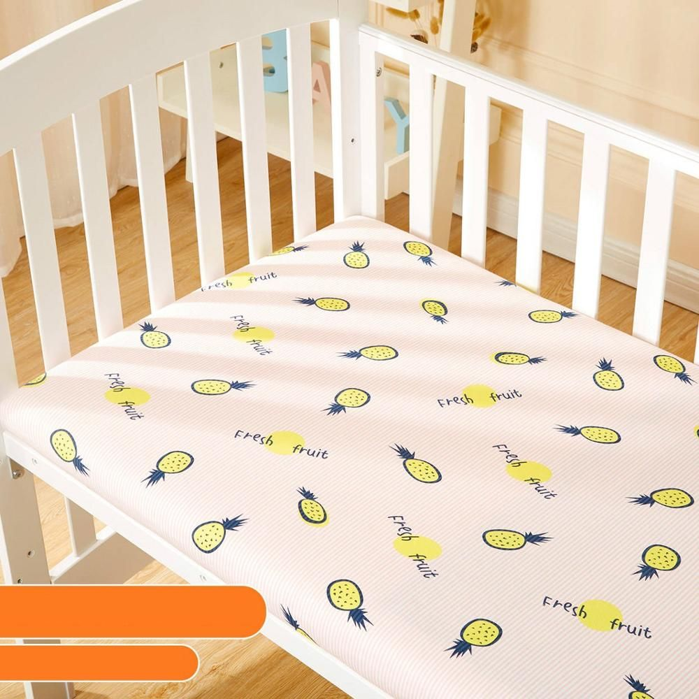 2019 Baby Crib Fitted Sheet Soft Knitting Cotton Baby Sheet Easy Clean Newborn Cot Mattress Cover Cartoon Todd Cotton Baby Sheets Baby Sheets Fitted Crib Sheet