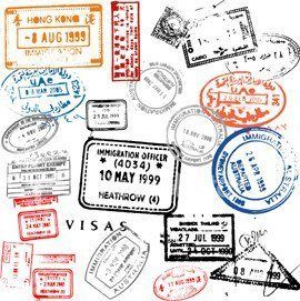 Working Overseas Where To Begin With Images Passport Stamps Travel Stickers Stamp