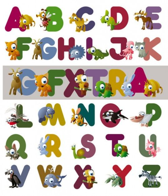 cartoon hairstyles | cartoon letters of the alphabet vector ...