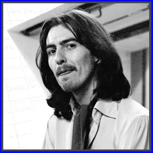 Licking his lips with his tongue. George Harrison.