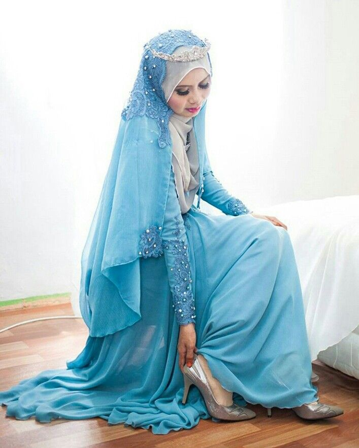 Blue wedding theme … photo by ikhwananuar | Hijab | Pinterest | Blue ...