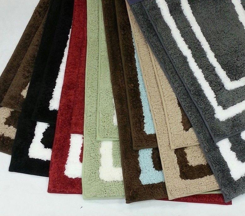 Luxurious Piece Regency Manor Microfiber Bath Rug Set Multiple - Plush bath mat for bathroom decorating ideas