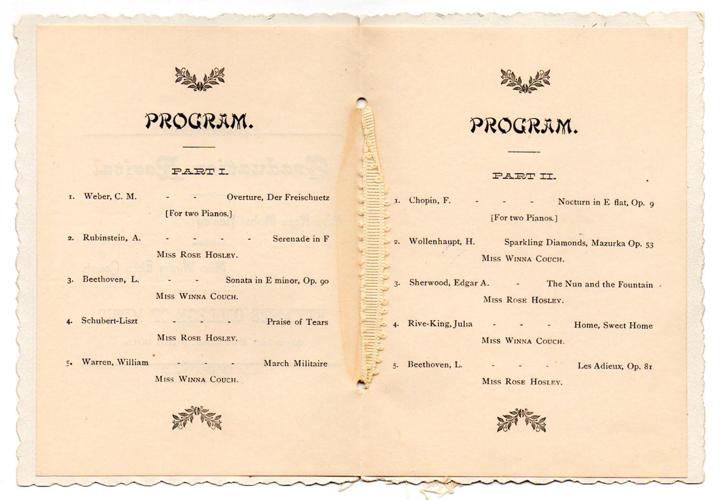 Graduation Program Template With Images Vintage Graduation