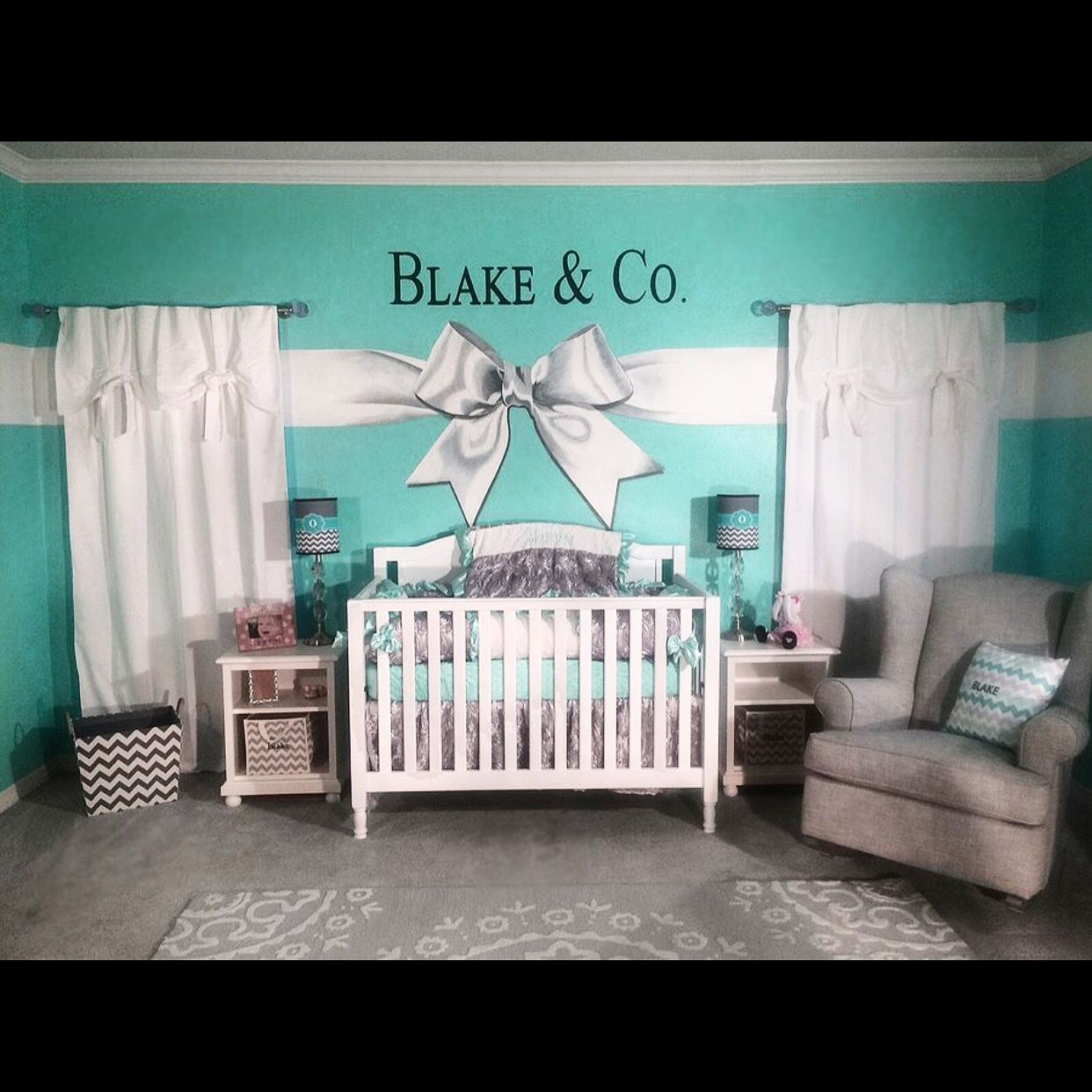 Tiffany Co Inspired Baby Nursery Baby Room Colors