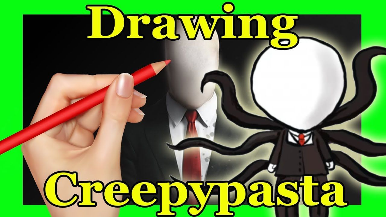DRAWING CREEPYPASTA / CUTE SLENDER MAN ANIME CHIBI / Paula