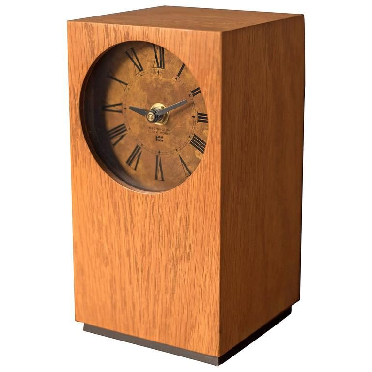 Mid-Century Modern Wood Clock in 2019   Products   Desk ...