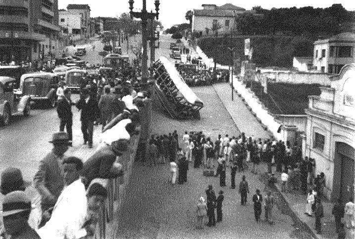 Bh Viaduto Santa Tereza Acidente Com Bonde Em 1937 Santa