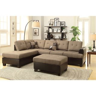 Hamar Sectional with Matching Ottoman & Pillows - Overstock™ Shopping - Big Discounts on Poundex Sectional Sofas