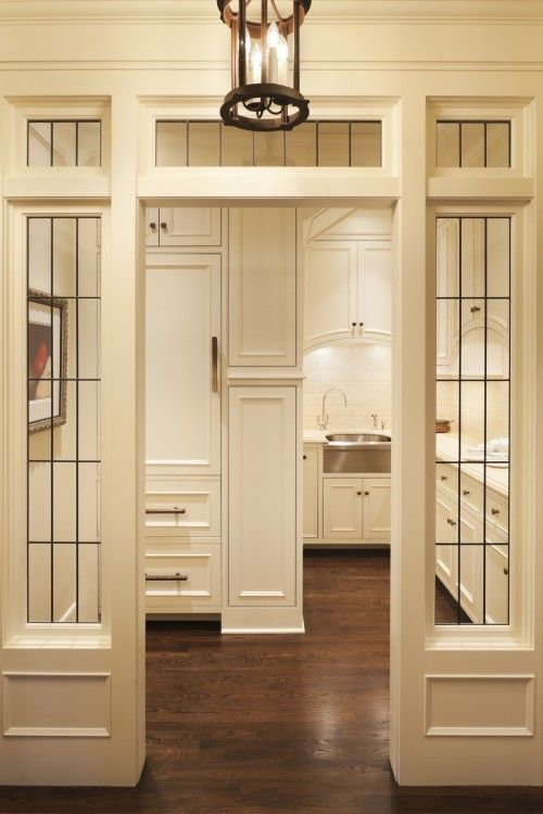 Formal Butler S Pantry Behind Leaded Glass Entry Murphy