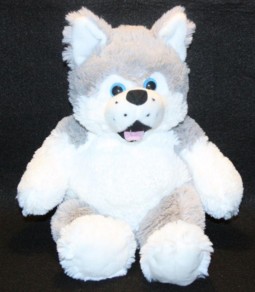Bears2go Husky Puppy Dog Plush Stuffed Animal Squishy Soft Wolf 15