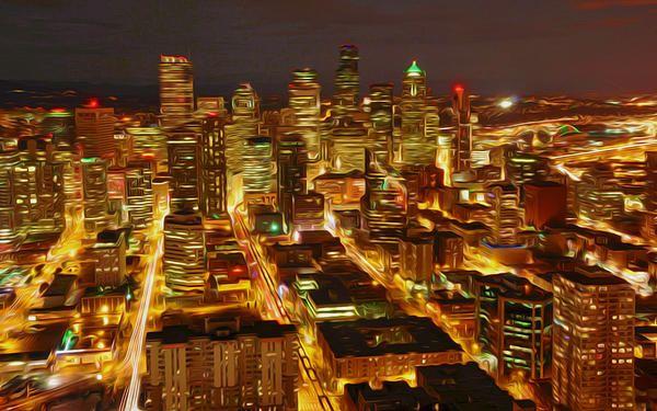 Emerald City Of Seattle Landscape City Seattle City Seattle Wallpaper
