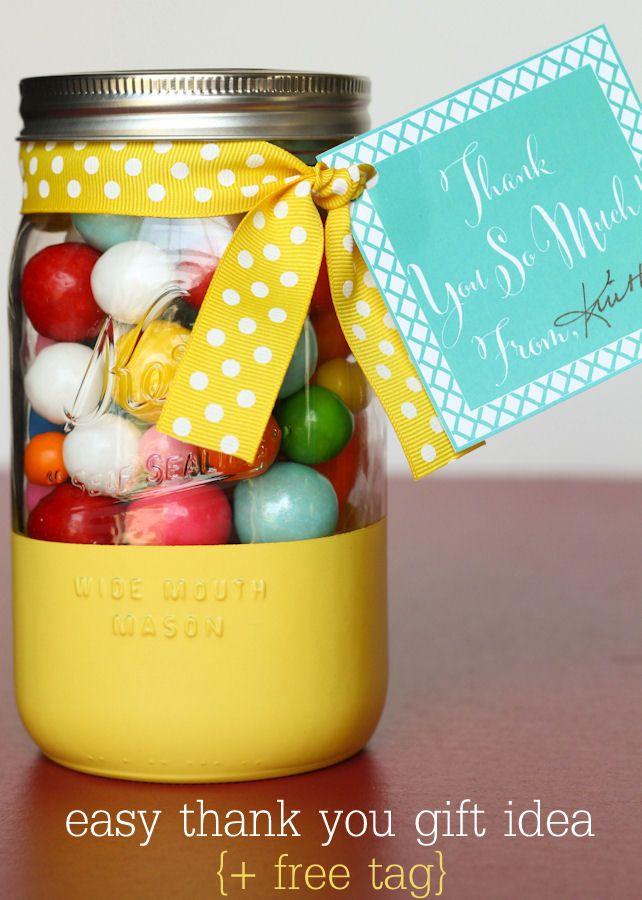 Jar Gift With Free Prints Mason Jar Gifts Jar Gifts Diy Teacher Gifts