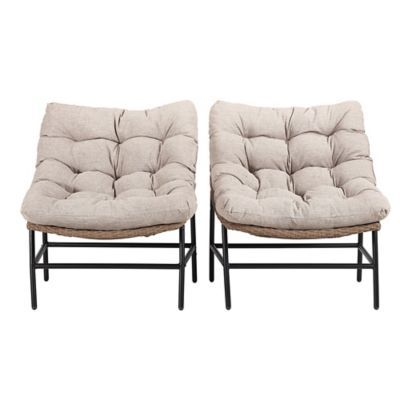 Forest Gate   Wicker Papasan Patio Chairs In Natur