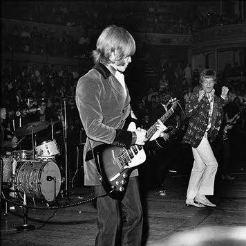 Brian Jones with his Gibson Firebird Non-Reverse, 1966.