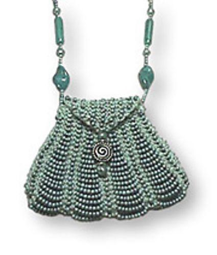 Mini Pinstripe Beaded Amulet Purse Pattern By Renee Gomez