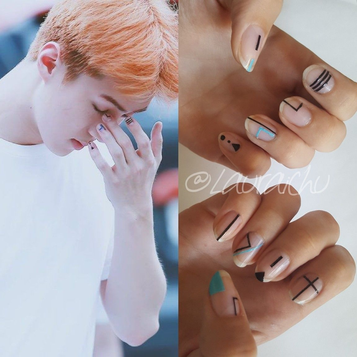 EXO Sehun Nails #EXO #Sehun #Nails #Nail #Nailart #Kpop | Nails ...