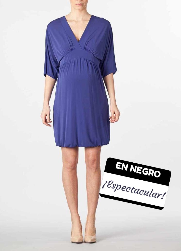 Vestido Kimono Negro [0468] - 89,25€ : Tienda premamá online. Moda ...
