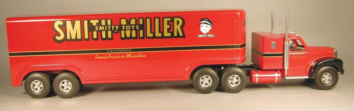 Smith Miller Toy Truck Smitty Toy 18 Wheeler Red Mack Truck Fred