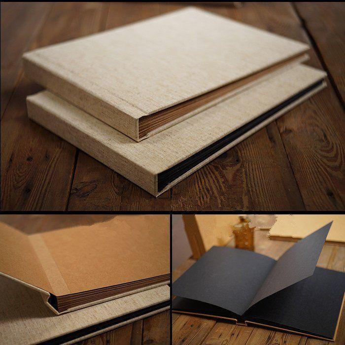 A4 Linen Cover Scrapbook Album Perfect Binding Butterfly