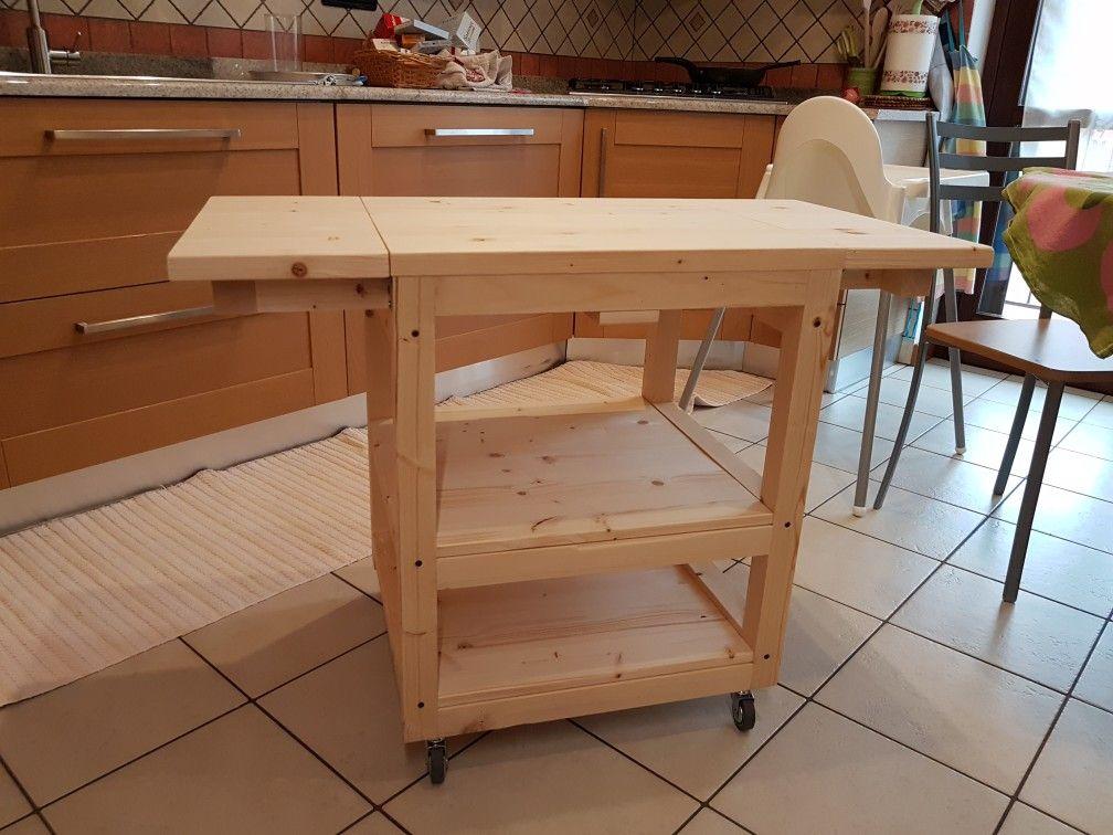 Fai da te carrello cucina pieghevole. Diy folding Wood kitchen ...