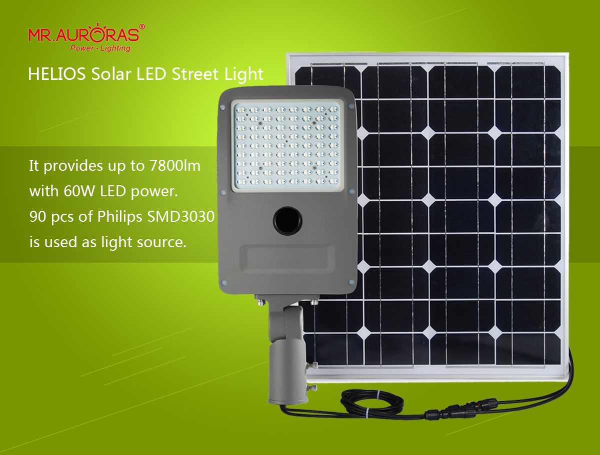 HELIOS solar street light is designed with concept of Plug
